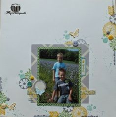 Magical Scrapworld, spring layout Stampin' Up!