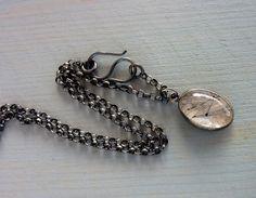 Tourmaline Quartz necklace Statement necklace Oxidized by anakim