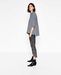 Image 4 of FULL CHECKED SHIRT from Zara