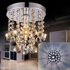 Discount crystal modern brief ceiling light free shipping modern brief lamps fashion crystal lighting Led ceiling light crystal lamp chandelier lights crystal chandeliers