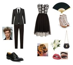 Homecoming by mwelch06 on Polyvore featuring polyvore, fashion, style, JustFab, Chloé, Dolce&Gabbana, Church's, Corneliani, Versace, Cultural Intrigue and clothing