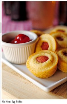 """ Mini Corn Dog Muffins"""