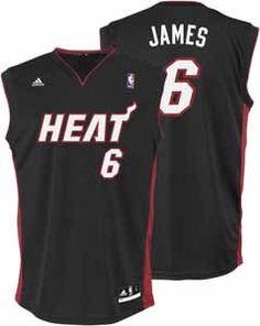 198b7c1a8862 NBA Miami Heat LeBron James Road Replica Youth Jersey (Black
