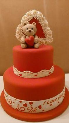 Care Bear Valentines Cake