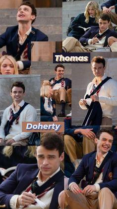 Live Action, Dove And Thomas, Pink Wallpaper Girly, Harry Hook, Gossip Girl Reboot, Disney Decendants, Thomas Doherty, Evie, Descendants