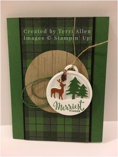 Merriest Wishes, Merry Tags, Stampin' Up! Holiday 2016.