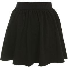Crinkle Textured Skater Skirt (160 BRL) ❤ liked on Polyvore featuring skirts, mini skirts, bottoms, saias, jupes, black, mini skirt, flared skirt, circle skirt and crinkle skirt
