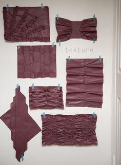 manipulating leather - February challenge #wardrobechallenge