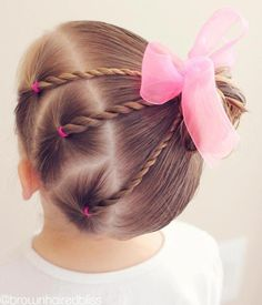 Easy Toddlers Hairstyle Kinderfrisuren 40 Cool Hairstyles for Little Girls on Any Occasion Easy Todd Easy Toddler Hairstyles, Baby Girl Hairstyles, Trendy Hairstyles, Short Haircuts, Teenage Hairstyles, Toddler Hair Dos, Wedding Hairstyles, Hairstyles Haircuts, Natural Hairstyles