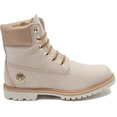 """Womens Timberland 6"""" Premium Boot ($170) ❤ liked on Polyvore featuring shoes, boots, lightweight shoes, water proof boots, metallic boots, waterproof shoes and lightweight boots"""