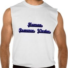 Human Resource Worker Classic Job Design Sleeveless Tees Tank Tops