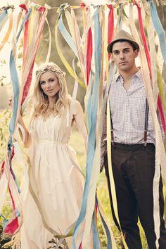 Boho Wedding Inspiration…Ribbon Wall…Brittany Dow Photography
