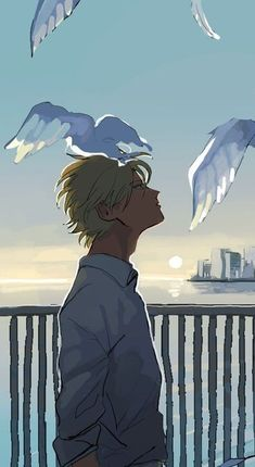 Image uploaded by yui. Find images and videos about couple, anime and bl on We Heart It - the app to get lost in what you love. Manhwa, Anime Depression, Otaku, Anime Art, Manga Anime, Fish Icon, Banana Art, Fish Wallpaper, Matching Wallpaper