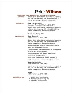 free resume template 2