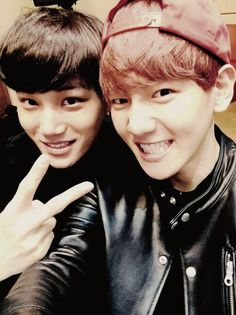 [祈跡] | via Tumblr | We Heart It Kai, and Baekhyun.  (<0> \__/ <0> )