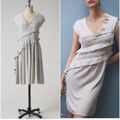 Anthropology Grey Knit Dress