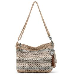 The new Casual Classics 3-in-1 Demi channels casual, beachy cool with Sand Stripe. Soft neutrals are hand-crocheted to form this chic shape which can be worn over the shoulder, as a crossbody or a clutch.