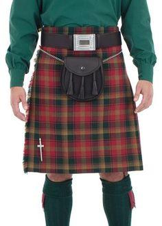 TC Kilt de Mens Montre Noir /Écossais Traditionnel Highland Robe /à Carreaux 8 Yard
