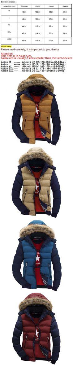 Hooded Coat Men Casual Design Parka Men's Winter Thick Warm Fur Collar Jacket casacos jaqueta masculina inverno