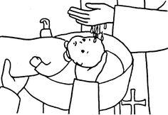 sacrament baptism coloring pages - photo#21
