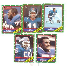 1986 Topps New York Giants Team Set Lawrence Taylor HOF Phil Simms Harry Carson | eBay