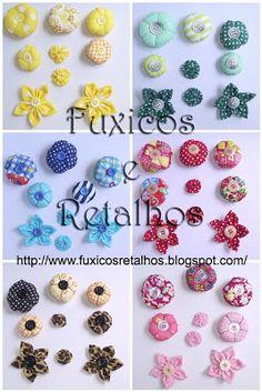 ~♥~ Fuxicos e Retalhos ~♥~: Flores de Fuxico