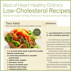 Low-Cholesterol Recipes