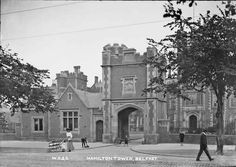 Hamilton Tower, Belfast, Co. Old Photographs, Belfast, Northern Ireland, Notre Dame, Hamilton, Tower, Mansions, House Styles, Building
