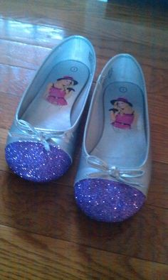 Extend the life of Em's scuffed up shoes, modgepodge n glitter