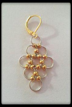 DIY earrings using gold spacers