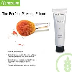 NeoLife Aloe Vera Gel - Clinically proven to calm the skin's surface and alleviate minor skin discomforts. Makeup Primer, Perfect Makeup, Aloe Vera Gel, Organic Skin Care, Natural Health, Moisturizer, Balcony, Detox, Beauty Products