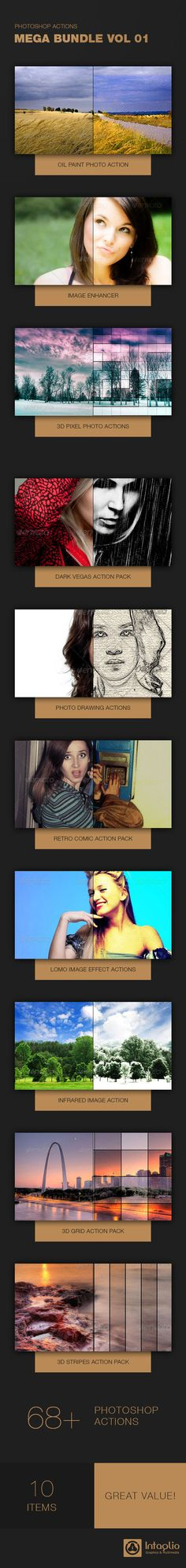 Photoshop Actions Mega Bundle Vol 1