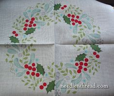 Rouge du Rhine embroidery kits