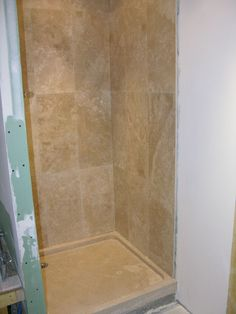 completion of shower cubicle