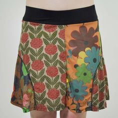 Celebrate springtime with the funky color and flirty flare of our mod love floral skirt!  This 100% cotton jersey skater skirt features a comfortable wide waistband and pretty patchwork of floral and solid fabric, sure to bring fresh energy to and boho style to your warm-weather wardrobe! $28