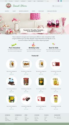 Template 51774 - Sweets House  Responsive OpenCart Template