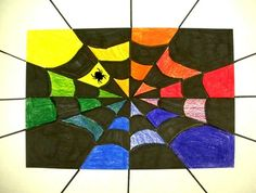 Katie5432's art on Artsonia Nov. 2010 Grade 4 Henderson Elementary School...Color Webs..