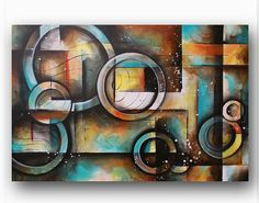 Abstract Painting Circle Contemporary by heatherdaypaintings, $325.00