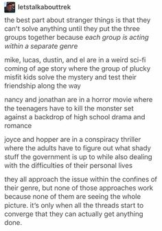 This is legit the reason Stranger Things is so amazing, plus the acting because 👐YES👐 but yeah I love it Serie Stranger Things, Stranger Things Have Happened, Shows On Netflix, Movies And Tv Shows, Should I Stay, Fandoms, Marvel, Lotr, Nerdy