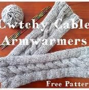 Cwtchy Cable Armwarmers - via @Craftsy