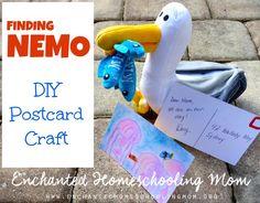 Mine, mine, mine! Head down under for a fun DIY Finding Nemo postcard craft for kids.
