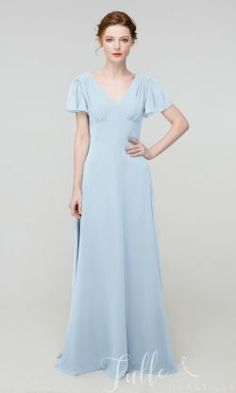 Long V Neck Chiffon Bridesmaid Dress with Cap Sleeves TBQP507#wedding #weddinginspiration #bridesmaids #bridesmaiddresses #bridalparty #maidofhonor #weddingideas #weddingcolors #tulleandchantilly Tulle Bridesmaid Dress, Affordable Bridesmaid Dresses, Short Bridesmaid Dresses, Short Sleeve Dresses, Wedding Dress, Dream Wedding, How Many Bridesmaids, Long Shorts, Chiffon Fabric