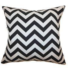 Xayabury Zig Zag Throw Pillow in Black