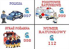telefony alarmowe dla dzieci - Szukaj w Google Learn Polish, Polish Language, Transportation, Diy And Crafts, Homeschool, Survival, Classroom, Techno, Organization