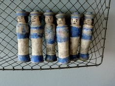 Vintage French Wooden Skittles best old paint by AbbyinFrance, $137.00