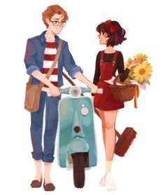 Kiki and Tombo Art Print