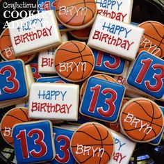 Birthday Basketball Cookies