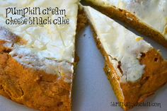 pumpkin cream cheese snack cake -yum! #healthy #recipes