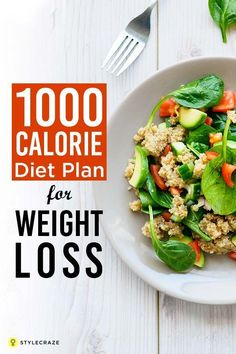The rationale behind the 1000 calorie diet plan is that the drastic reduction of caloric intake results in weight loss, with little or no physical activity. The 1000 calorie plan generates energy shortage of 500 to 1000 calories and helps to burn approximately 8% of fat. The 1000 Calorie Diet Plan For Weight Loss