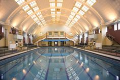 """""""Local paper the Rochdale Observer acclaimed the town's Central Baths as 'a positively breathtaking picture of loveliness' on their opening in May 1937. Only a few significant alterations have been made to the baths, which remain in use more than 70 years later."""""""
